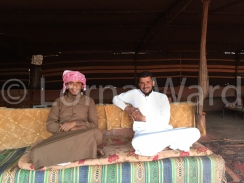 Our Bedouin hosts in the Wadi Rum