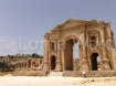 Roman city of Jerash, Jordan and Hadrian's gate