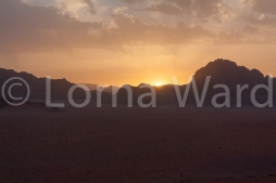 Sunset over the Wadi Rum