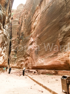 First rock fall at Petra in decades according to our guide, luckily noone was passing at the time