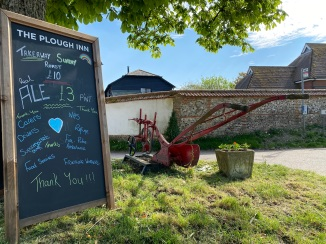 plough inn chalk board